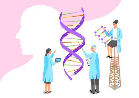 Medizinisches Wissenschaftskonzept, Gesundheitsversorgung und Untersuchung für verschiedene Krankheiten Illustration 011