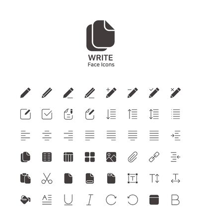 Modern thin line flat design icons set for website and app design 091