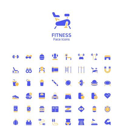 Modern thin line flat design icons set for website and app design 120