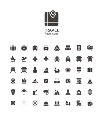 Modern thin line flat design icons set for website and app design 023