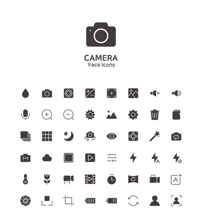 Modern thin line flat design icons set for website and app design 096