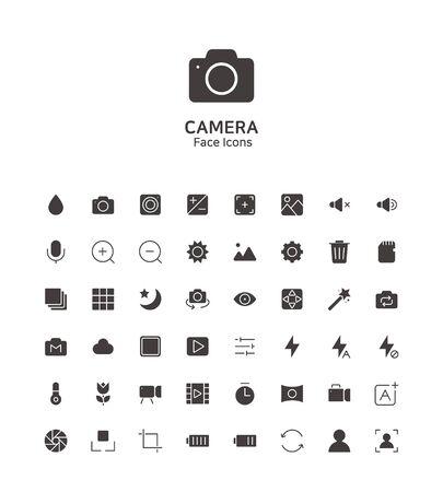 Modern thin line flat design icons set for website and app design 096