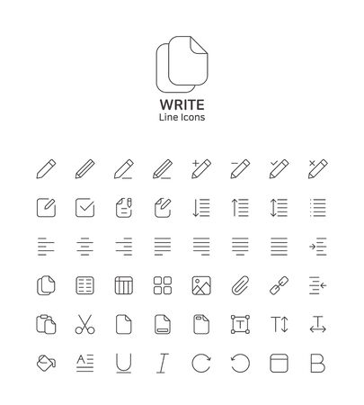 Modern thin line flat design icons set for website and app design 051