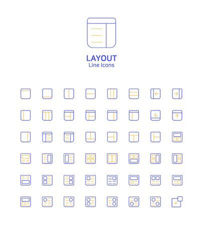 Modern thin line flat design icons set for website and app design 068 Иллюстрация