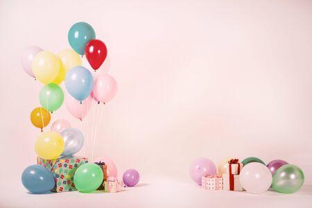 Colorful balloons bacground 058