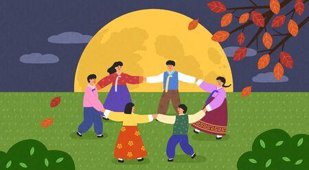 Happy time in Autumn illustration 008
