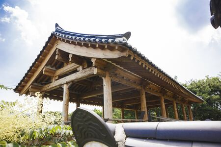 Traditional Korean style architecture, Hanok Village landscape Stok Fotoğraf