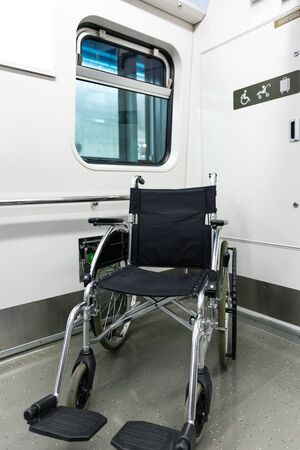 Disabled handicapped man sitting on wheelchair 116