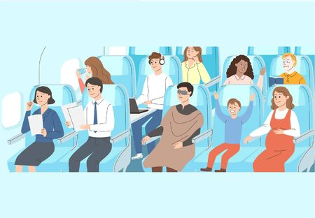Crowd people and groups concept illustration 005