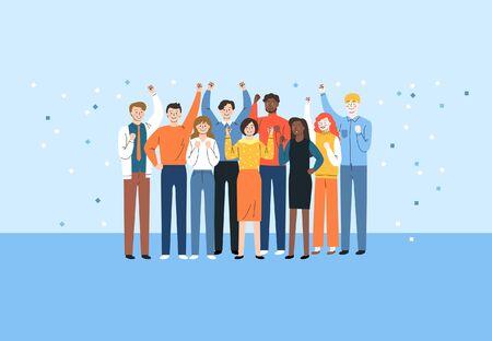 Crowd people and groups concept illustration 003 Vektorgrafik