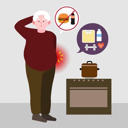 Geriatric patient, healthcare for seniors concept illustration 007 Illustration