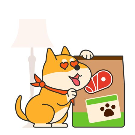 Cute and lovely animals, pets icon illustration 003