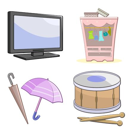 Set of colorful cartoon icons