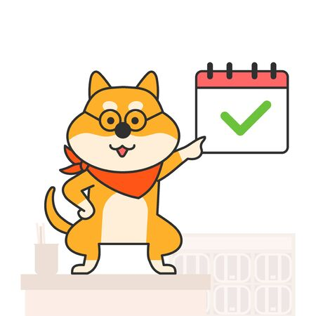 Cute and lovely animals, pets icon illustration 002