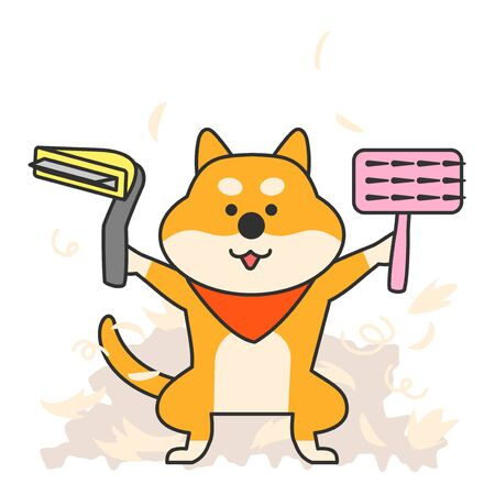 Cute and lovely animals, pets icon illustration 025