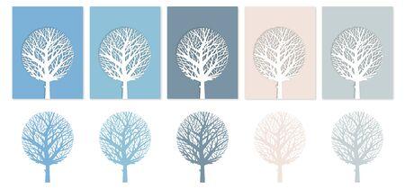 illustration of snow trees