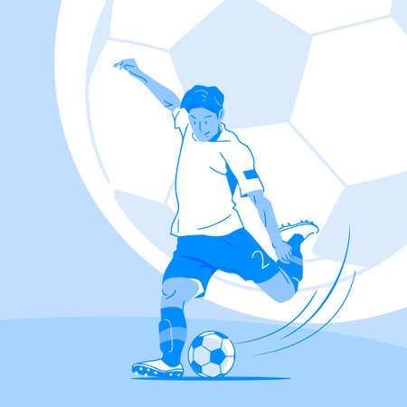 Dynamic sports, Various sports players illustration 012