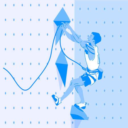 Dynamic sports, Various sports players illustration 032 일러스트