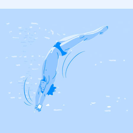 Dynamic sports, Various sports players illustration 066