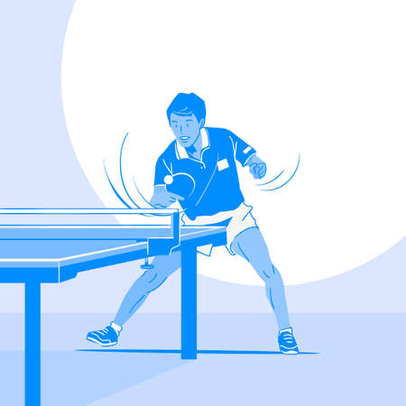 Dynamic sports, Various sports players illustration 040