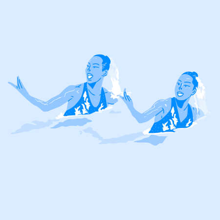 Dynamic sports, Various sports players illustration 068 일러스트