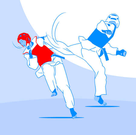 Dynamic sports, Various sports players illustration 044
