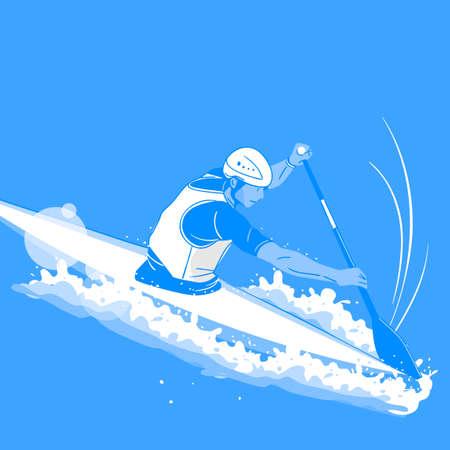 Dynamic sports, Various sports players illustration 007 일러스트