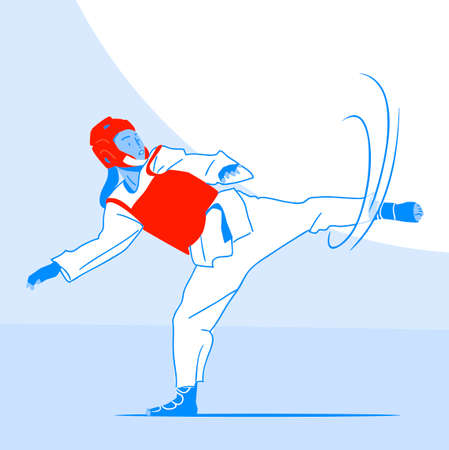 Dynamic sports, Various sports players illustration 043