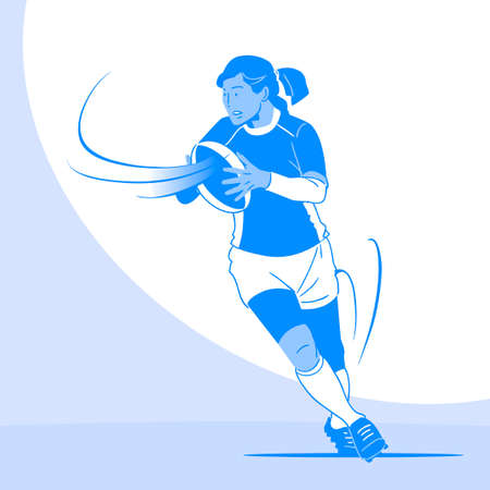 Dynamic sports, Various sports players illustration 028