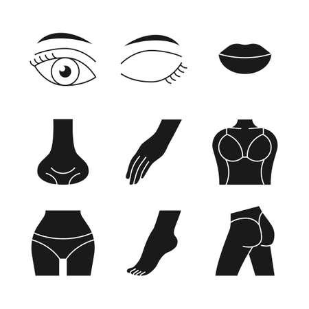 Beauty, cosmetics, skin care concept line icons set. Flat design illustration 041