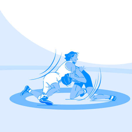 Dynamic sports, Various sports players illustration 076