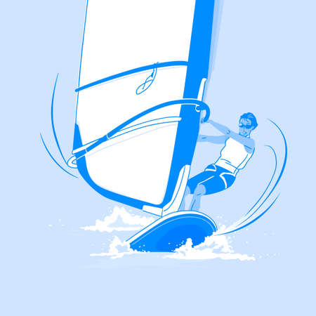 Dynamic sports, Various sports players illustration 084 일러스트