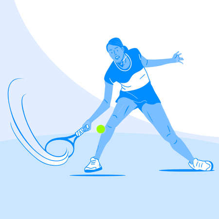 Dynamic sports, Various sports players illustration 045