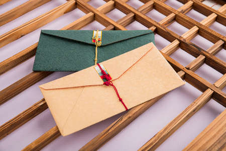 the Korean traditional wrapping cloth, refreshments and greeting card 107 스톡 콘텐츠 - 151110709