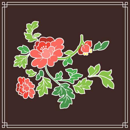 the Korean traditional pattern illustration 066 스톡 콘텐츠 - 150786295