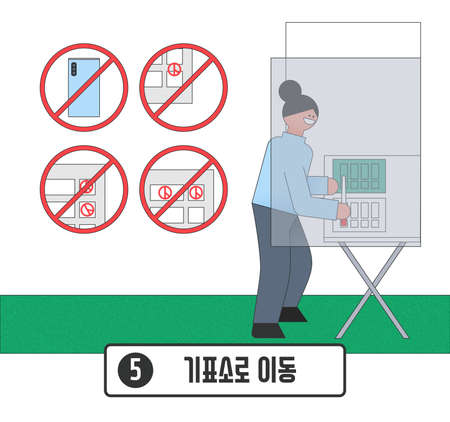 Voting and Election concept, Voting process illustration 005