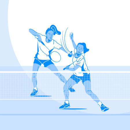 Sports Athletes silhouette illustration 021