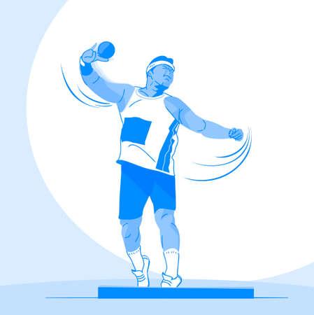 Sports Athletes silhouette illustration 013