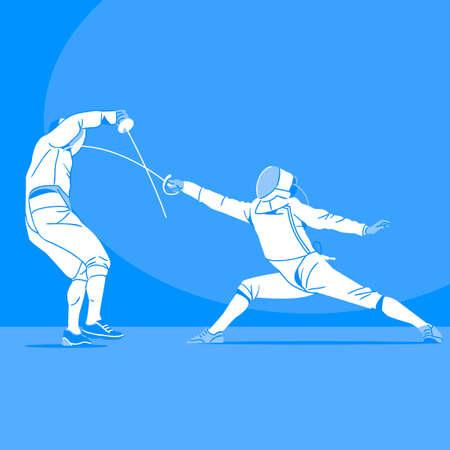 Sports Athletes silhouette illustration 045