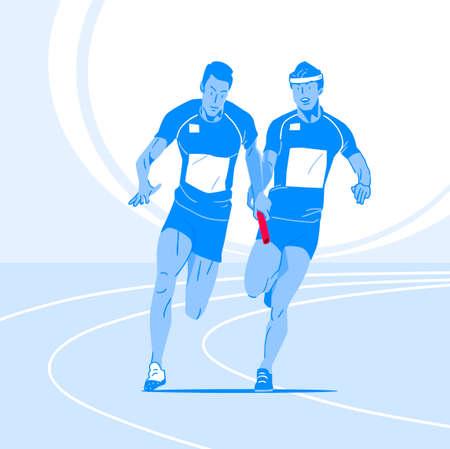 Sports Athletes silhouette illustration 012