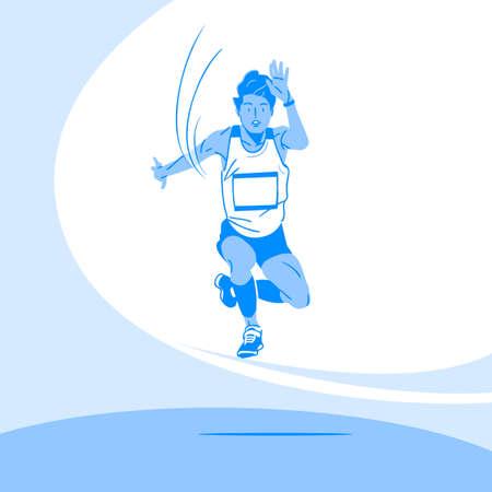 Sports Athletes silhouette illustration 018  イラスト・ベクター素材