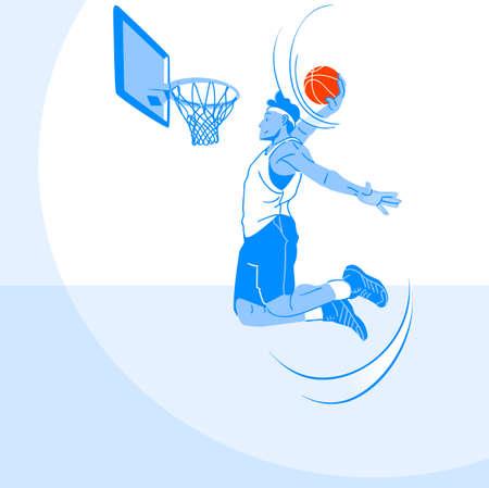 Sports Athletes silhouette illustration 024