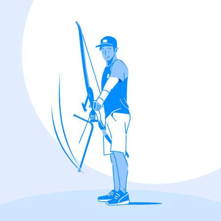 Sports Athletes silhouette illustration 009  イラスト・ベクター素材