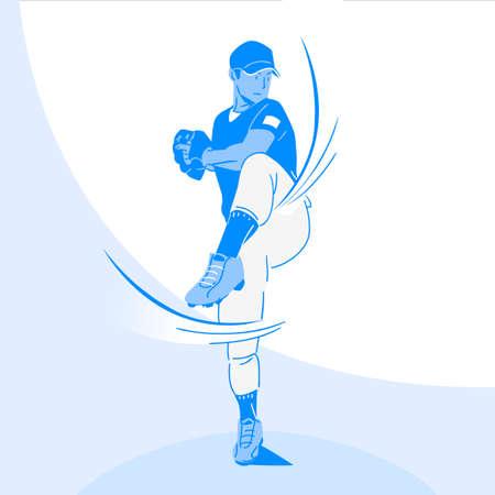 Sports Athletes silhouette illustration 001  イラスト・ベクター素材