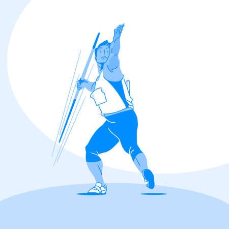 Sports Athletes silhouette illustration 014