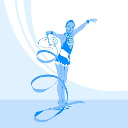 Sports Athletes silhouette illustration 036  イラスト・ベクター素材