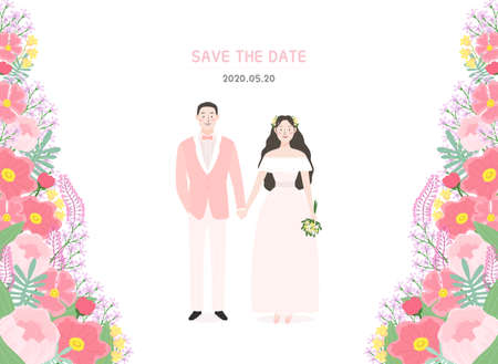 Love and appreciation concept, Happy Loving event illustration 001