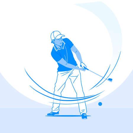 Sports Athletes silhouette illustration 043  イラスト・ベクター素材