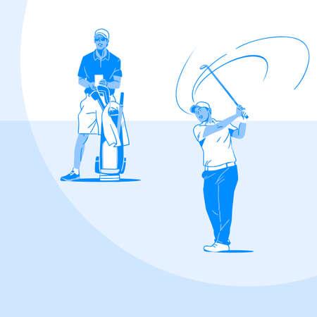 Sports Athletes silhouette illustration 040  イラスト・ベクター素材