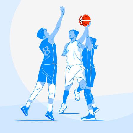 Sports Athletes silhouette illustration 026  イラスト・ベクター素材